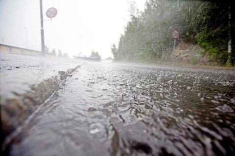 SLIK BLIR DET IKKE: Regnværet som var meldt mandag ser i løpet av natten ut til å ha avtatt.