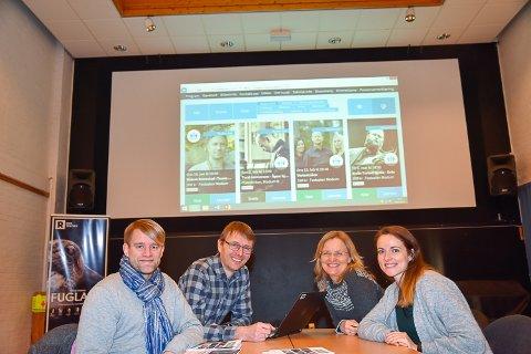 NYTT SAMARBEID: Helge Harila, Øyvind Christensen, Nina Brokhaug Røvang og Hanna Louise Husøien er fornøyde med billettportalen.