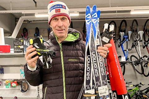 HAR HANDLET: Kristen Aaby har allerede vært på handletur for å ha langrennsutstyr på plass til skikarusellen starter på mandag.