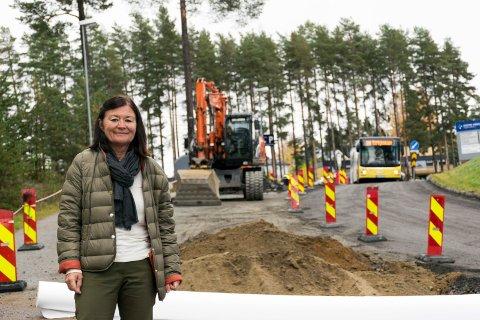 ENDELIG: Oppgraderingen av sykehusveien er etterlengtet, sier klinikkdirektør May Janne Botha Pedersen.