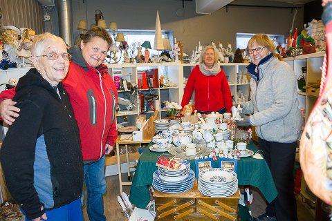 Kari Eriksen, Gro Rundbråten, Mette Aurelius, Jorunn Flattum, Wild Cats-butikken på Tangen