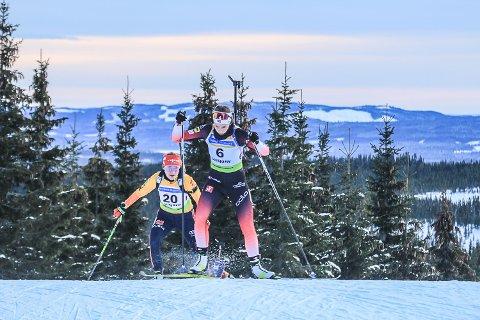 HØYE MÅL: Ida Lien, skiskytter fra Simostranda IL, tar korte steg, men håper en dag å kjempe om gjeve plasseringer blant de aller beste i verden.