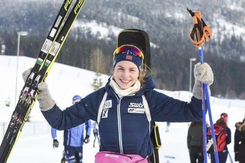 GRUNN TIL Å JUBLE: Med både niende- og sjuendeplass i EM viste Ida Lien at hun er i storform. Simostranda-løperen har også grunn til å juble etter at hun er tatt ut til sesongens to siste konkurransehelger i IBU-cupen.