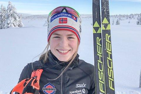EM-KLAR: Ida Lien fra Simostranda IL er en av seks norske jenter som reiser til europamesterskapet i skiskyting i Hviterussland 18. februar.