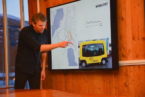 """""""GRØNN TRANSPORT"""": Arkitekt Petter Grimm mener fremtiden handler mye om """"grønn"""" forflytining. Han foreslår derfor at man satser på mange ladestasjoner."""