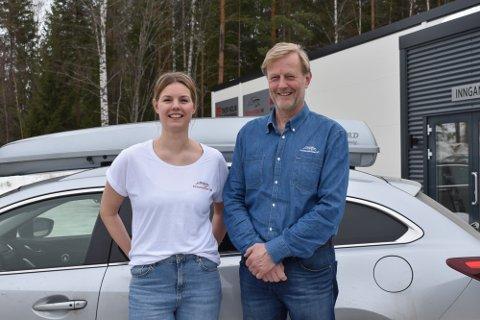NYE TIDER: Cathrine og Dagfinn Holm i Skiguard AS selger flest skibokser i Norge, men markedet begynner å bli mettet.