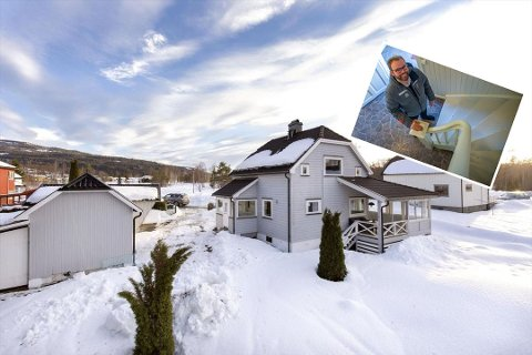 SOLGT: Fire dager etter fellesvisningen ble eneboligen i Geithus solgt – 90.000 under prisantydning. Nå går megler Rune Bergheim inn i meglernes høysesong.