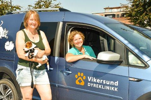 STARTER DYREKLINIKK: Anett Bjørndal og Heidi Mestl starter opp Vikersund dyreklinikk i januar.