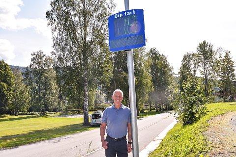 FARTSMÅLER: Kommunen har gått til innkjøp av to nye fartsmålere før skolestart.