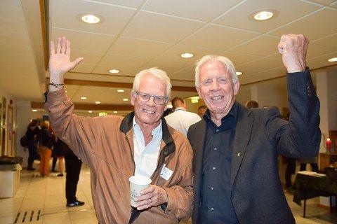 FORNØYDE: Ole Johan Sandvand og Ole Brunes var godt fornøyd med årets Modumkonferanse og kunne juble for publikumsrekord.