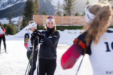 KLAR FOR FINLAND: Ida Lien og de norske skiskytterne åpner verdenscupen i finske Kontiolathi til helgen.
