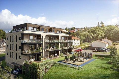 TOPPLEILIGHET: Kristian Glesne Groven og kona Brit har kjøpt toppleiligheten i Solhøi trinn to i Åmot.