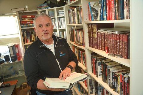 BOKSTØTTE: Halvor Hartz. Skriver bok om krigen og har søkt Modum kommune om støtte på 10.000 til arbeidet med boken.