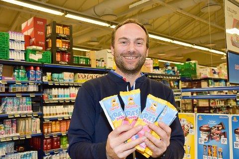 TILBAKE: Mange av kundene til Espen Justad Johnsen er godt fornøyd med at Kræsj pink er tilbake.