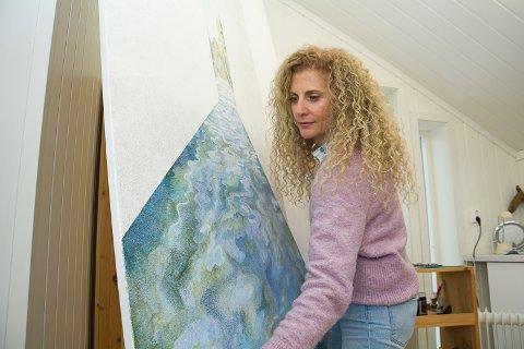 Elena Kouma, kunstner, Øst-Modum, og ektefellen Øyvind Fure