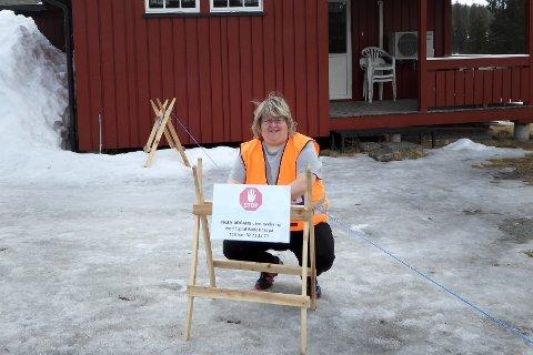 HELT DØDT: – Det har vært helt dødt i Sigdal i påsken og vi har ikke hatt ett eneste oppdrag, sier Nina Jørgensrud, koprsleder i Sigdal Røde Kors.