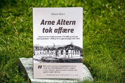REDNINGSAKSJON: Håvard Altern har skrevet boka «Arne Altern tok affære» om hvordan faren berget Blaafarveværket i 1938.