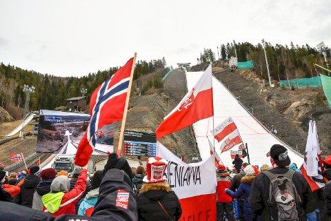 AVLYST: Raw Air-rennet i Vikersund i mars ble avlyst på grunn av korona. Bildet er fra et tidligere renn.