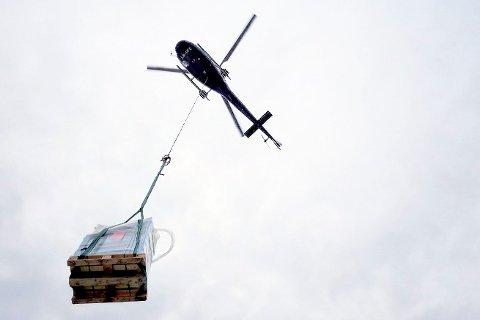 HELIKOPTERTRANSPORT: Modum kommune har gitt tillatelse til helikoptertransport i forbindelse med hyttebygging på Øståsen.