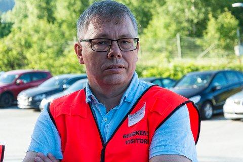 IKKE SKRIV UNDER: Rådet fra Terje Berghagen, Fellesforbundet avd. 43, er klokkeklart. Han avventer nå svar fra LO og forbundet sentralt.