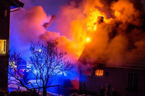 ALLES FRYKT: Ingen vil oppleve en boligbrann, men nå frykter brannvernforeningen at kulden kan øke brannfaren.