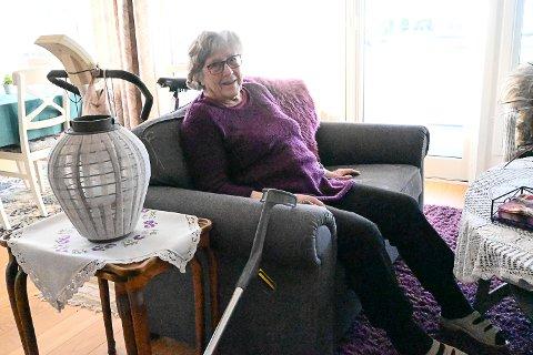 SELVFØLGE: For Ragna Dahl (93) var det en selvfølge å vaksinere seg mot covid-19 da tilbudet kom.