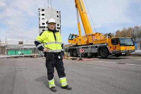 BYGGELEDER: Odd Arne Sundhaugen er byggeleder i Glitre Energi