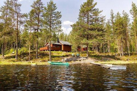I VANNKANTEN: Et lavt antall skogshytter for salg er med på å drive prisene opp. Denne hytta ved Sysletjern er det første hytta i området som legges ut for salg på over fem år.