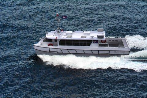 NOE SLIKT: Det er en båt som dette NAPOP ser for seg at skal trafikkere Tyrifjorden fra Vikersund til Sundvollen.