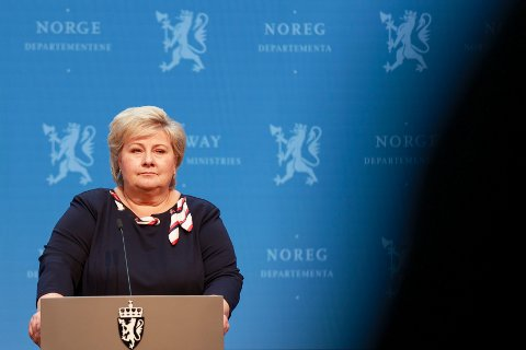 Statsminister Erna Solberg (H) kunngjorde fredag at Norge snart skal gjenåpnes