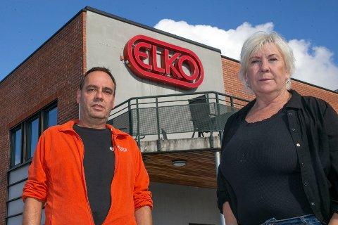 ALVORET SYNKER INN: Klubbleder Morten Eriksen (t.v) og tillitsvalgt Eva Ranheim innser at det nærmer seg slutten på Elko-eventyret i Åmot. I løpet av første kvartal i 2022 stenges produksjonen.