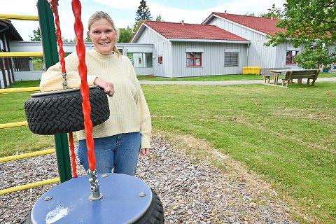 NY JOBB: Lene Hunstad begynte i jobben som vernepleier på avdeling Blå ved Vikersund skole i høst.