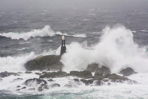 VINDFULLT: langs kysten meldes det om sterk vind.