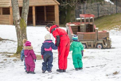 GODT FORNØYDE: Foreldre er stort sett godt fornøyde med barnehagene i Eigersund. Varden barnehage og Raketten barnehage (der dette arkivbildet er tatt) er blant de med høyest score også i et nasjonalt perspektiv.