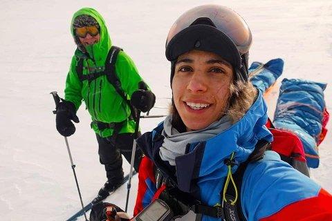 GIKK SAMMEN: Amy Mir gikk på lag med Johannes Simonsen i årets Expedition Amundsen.