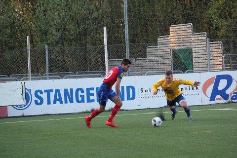 Elion Shatri scoret to av Eigers sju mål i kampen mot Hana torsdag kveld.