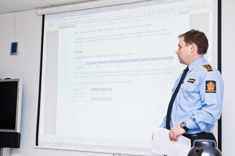 Steinar Langholm, politistasjonssjef i Eigersund.