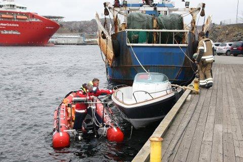 Det ble raskt klarlagt at det ikke var brann i båten.
