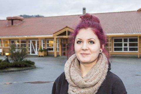 HÅPER FORTSATT: Kristina Ellertsen hadde praksis på Kjerjaneset i høst. Det fungerte godt. Hun håper hun får være i hjemmesjukepleien i Eigersund når den nye praksisperioden starter midt i februar.