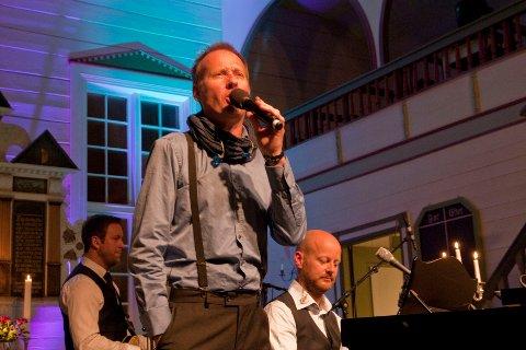 Sigvart Dagsland under en konsert i Bjerkreim.