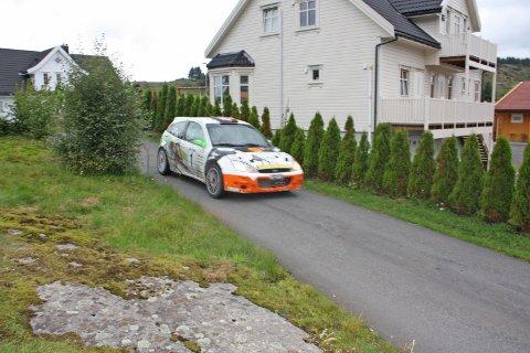 HELT SPESIELT: Svein Frustøl i aksjon på siste etappe på Kjelland under fjorårets Rally Sokndal.
