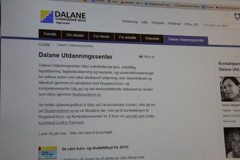 STUDERE HJEMME?: Dalane studiesenter tilbyr to nye fagskoletilbud fra høsten av. Studiene gjøres unna gjennom lokale seminarer, videokonferanser og nettstøttet undervisning.