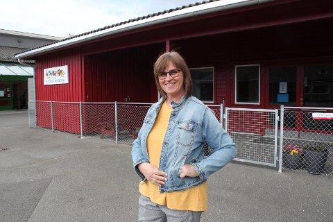 """UNDERSØKELSE: Rundevoll barnehage havner nederst på lista i Eigersund på spørsmålet """"hvor fornøyd eller misfornøyd er du med din barnehage?"""". Styrer Aud Harriet Olsen tar resultatet på alvor, og tror samtidig mye vil forbedre seg når de flytter inn i den nye barnehagen."""