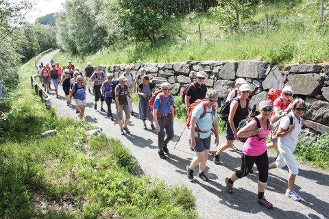 ORGANISERT TUR: 14. juni gjekk 45 vandrarar frå Jæren og Dalane på pilegrimstur i regi av kyrkja.