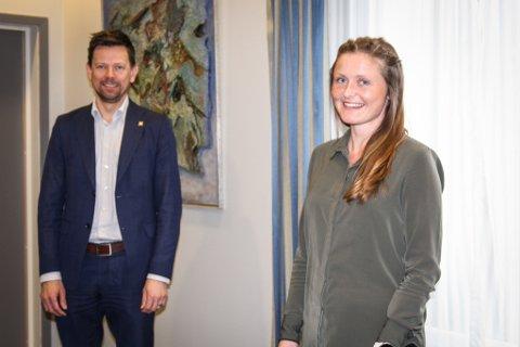NY LEDER: Karoline Mong Omdal skal fremover lede Næringsforeningen i Stavanger-regionens ressursgruppe i Dalane. Hun tar over rollen Geir Sølve Hebnes Sleveland har hatt i tre år.