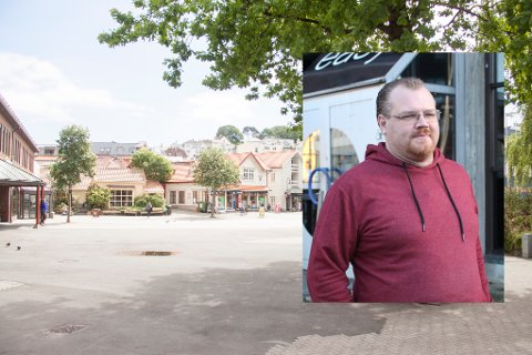 ANDRE PLANER: Arild Sleveland i Egersund Pubdrift tar det ikke så tungt om de ikke får sette opp sommerteltet sitt på bytelttomta. De har nemlig begynt å planlegge et samarbeid med Egersund i sentrum om å bruke Torget til konserter og arrangementer gjennom sommeren.