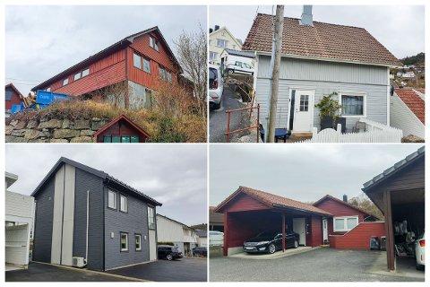 EIENDOM: Gamleveien 15, Vågsgaten 34, Elgveien 6 og Steinoddveien 12 i Eigersund skiftet eier i løpet av april.