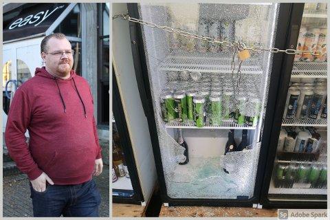 SINT: Arild Sleveland hadde sikret kjøleskapene i teltet med kjetting og hengelås, men det hjalp ikke.