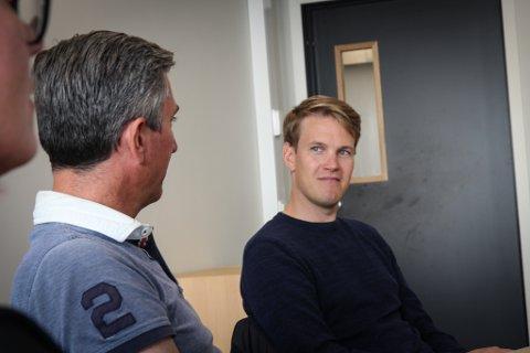 GODE LØSNINGER: Denne uka var stortingspolitiker Torstein Tvedt Solberg (Ap) på besøk ved Dalane videregående skole. Her er det tatt i bruk mange løsninger som Ap-politikeren har sansen for.