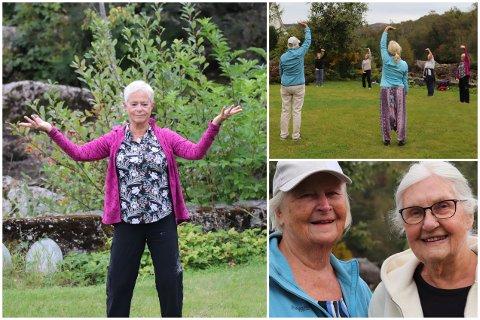 TAI CHI: I en hage like ved Elverhøy møter folk opp for å trene kampsport med Anne Sandtveit som instruktør.